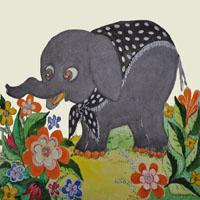 Afabetul pentru copii - Litera E - Elefant