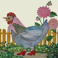 Afabetul pentru copii - Litera G - Găină