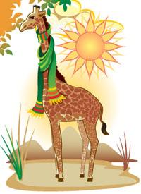 Afabetul pentru copii - Combinaţia Gi - Girafă