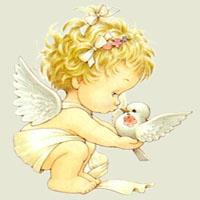 Afabetul pentru copii - Litera Î - Înger păzitor